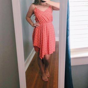 Salmon/Melon Printed Sundress